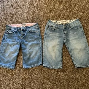 YMI 2 pair of girls shorts size 12